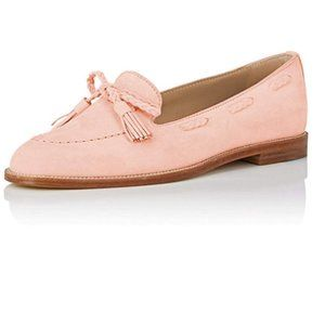 YDN Pink Casual Round Toe Low Heels Loafers